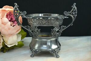 Vintage Quadruple Plate Silverplate Caviar Stand Holder