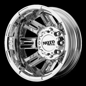 16 Inch Pvd Chrome Wheels Rims Dodge Ram 3500 Dually Moto Metal Mo963 8x6 5 Lug