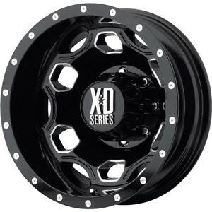 17 Inch Black Wheels Rims Ford Dually Truck F 350 F350 Superduty 8x200 Xd New