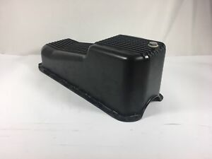 Arc A8442p 58 79 Sbc Finned Powder Coated Aluminum Oil Pan Previous Install