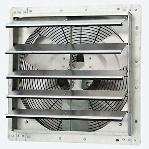 Iliving Ilg8sf18v 18 Inch Variable Speed Wall Mounted Steel Shutter Exhaust Fan