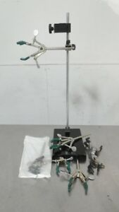 R149769 Lot Of Laboratory Science Clamps And Stand
