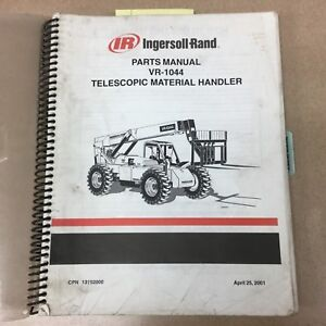 Ingersoll Rand Vr 1044 Parts Manual Book Telescopic Handler Forklift 13192000 Ir