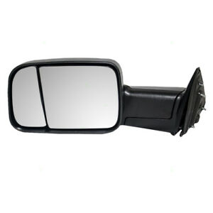 New Drivers Manual Tow Side Mirror Glass Housing 09 12 Dodge Ram Pickup Truck