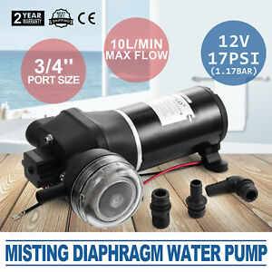 Misting Diaphragm Water Pump Booster Sprayer 12v 17psi Low Noise Electric Pro