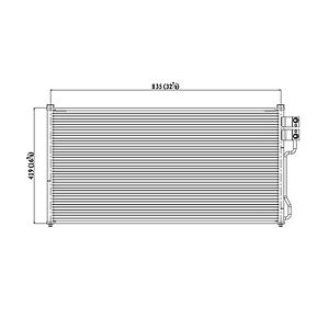 Air Conditioning Condenser For Ford Expedition Lincoln Blackwood Fo3030138