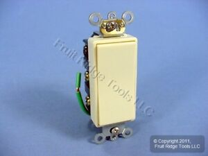 Leviton Ivory Dpdt Center off Commercial Decora Rocker Switch Maintained 5686 2i