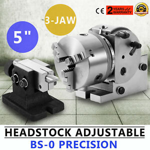 Bs 0 Dividing Head Set 5 3 Jaw Chuck Tailstock Milling Horizontal Indexing