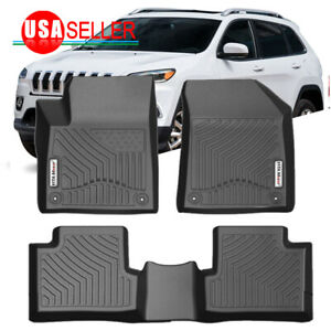 Floor Mats Liners For Jeep Cherokee 2015 2021 Heavy Duty Rubber All Weather Set