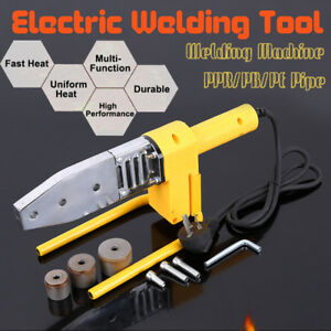 Electric Pipe Welding Machine Heating Heads Set For Ppr Pe Pp Ppc Tube 900w