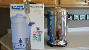 Delonghi Ultimate Coffee Maker Urn 20 To 60 Cup Model Dcu61 Stainless W Box