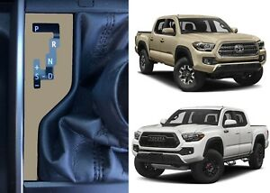 Quicksand Tan Shift Indicator Vinyl Overlay For 2016 2019 Toyota Tacoma New