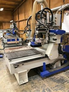 Cnc Mill 48 X 48 10 Position Tool Changer With Drill Bank And Saw Attachment