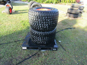 Set Of 4 Turf Special 610r 470 Lawn Flotation Tires Rims Off Kubota Tractor