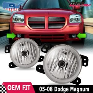 For Dodge Magnum 05 08 Factory Bumper Replacement Fit Fog Lights Clear Lens