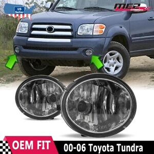 For Toyota Tundra 00 06 Factory Bumper Replacement Fit Fog Lights Clear Lens