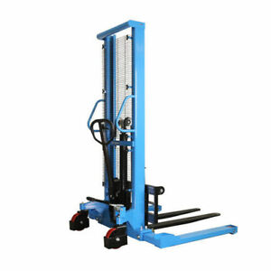 Eoslift 2 200 Lbs 63 In Raised Height Manual Straddle Stacker Pallet Truck H1