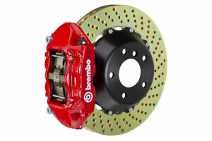 Brembo Gt Brake Kit Rear 345mm 2 Pc Drilled 4 Piston Red 986 Boxster S 1997 2004