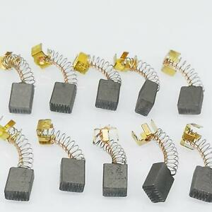 Us Stock 10pcs 5mm X 8mm X 12mm Carbon Brushes Motor Brush Set Replacement 64
