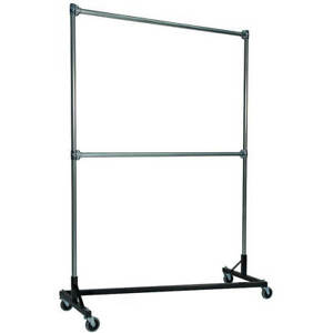 Z rack Heavy Duty Clothes Rack 60 L X 84 Uprights Double Rail Black 260842