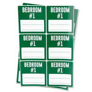 Bedroom 1 Labels With Blank Memo Note Home Moving Box Write Stickers 10 Rolls