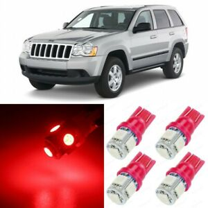 14 X Red Interior Led Lights Package For 2005 2010 Jeep Grand Cherokee tool