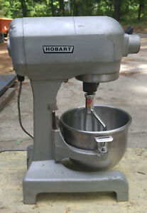 Hobart 12 Qt Mixer 1120t 1 2 Hp W New Motor Bearings Stainless Bowl Paddle