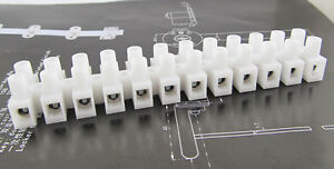 50pcs Wire 12 Position Barrier Terminal Strip Block 450v 30a 22 10 Awg