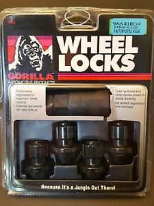4 Black Gorilla 2010 2019 Chevy Camaro Custom Wheel Locks Lug Locks 96641bdx