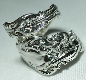 Whiting Lily Gorham Bypass Sterling Spoon Ring Size 7 Free Shipping Beautiful