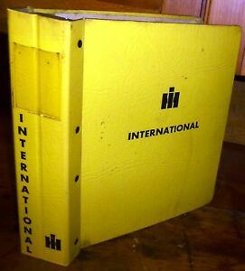 International Vintage Construction Manual Binder only