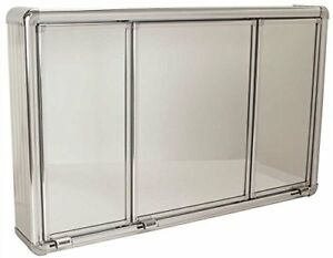 Heavy Duty Wall Mounting Metal Frame Plastic Medicine Cabinet 3 Door