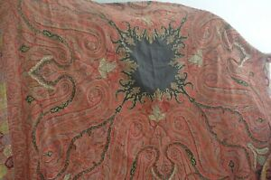 Authentic Kashmir 19th Century Paisley Shawl Fabulous Tt787