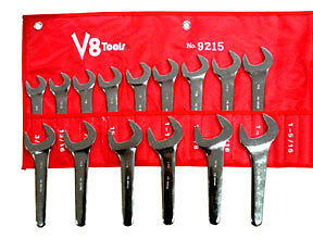 V8 Tools 9215 15pc Sae Service Wrench Set