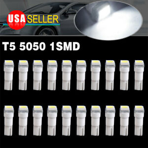 20 X White T5 Wedge Led Instrument Panel Dash Cluster Light Bulbs 2721 74 73