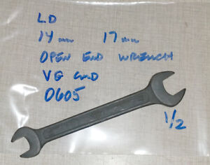 Emco Compact 5 Lathe Ld 14mm 17mm Open End Wrench 0605