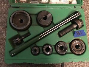 lotb1 Greenlee 7238sb Slug Buster Knockout Punch Set Complete 1 2 2