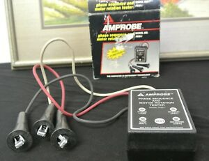 Amprobe Prm 1 Phase Sequence And Motor Rotation Tester With Original Box