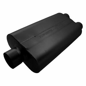 Flowmaster 50 Delta 23 Inch Long 3 Inch Center In 2 5 Inch Dual Out Oval Muffler