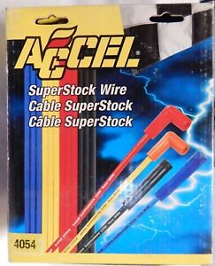 Accel 4054 Super Stock 8mm Spark Plug Wire Set 302 Ford 5 0 1983 1990