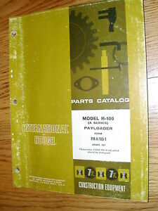 International Hough H 100 series A Parts Manual Book Catalog Wheel Payloader