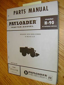 International Hough H 90b Parts Manual Book Catalog Wheel Payloader Shovel Guide