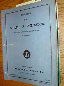 International Hough Hr Parts Manual Book Catalog Wheel Payloader Guide List Hrc4