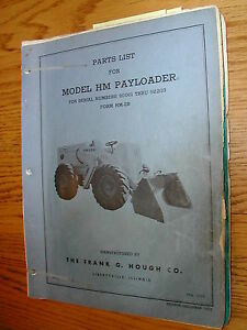 International Hough Hm Parts Manual Book Catalog Wheel Payloader Guide List Hm2b