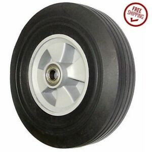Tubeless Pneumatic Hand Truck Wheel 10 D X 2 75 Width With 5 8 Axle Id