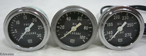 Stewart Warner 2 1 4 Gauges Fuel Pressure Oil Temperature Pressure