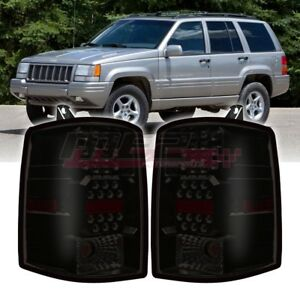 Winjet Factory Fit For 1997 1998 Jeep Grand Cherokee Led Brake Tail Lights Smoke