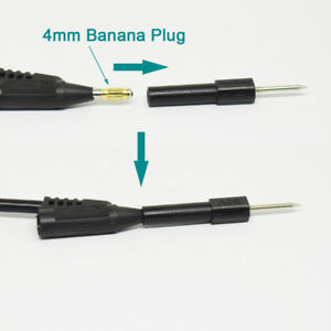 100pcs 4mm Banana Female Jack To 2mm Test Probe Pin Tip 30v 10a Adapter 5 Colors