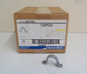 Carlon Thomas Betts 3 4 Inch Pvc Conduit Clamp E977ec Box Of 100