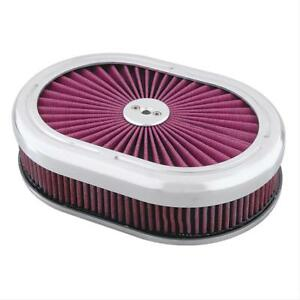 Summit Racing Oval Filter top Air Cleaner 12 L X 8 1 4 W Oval G282